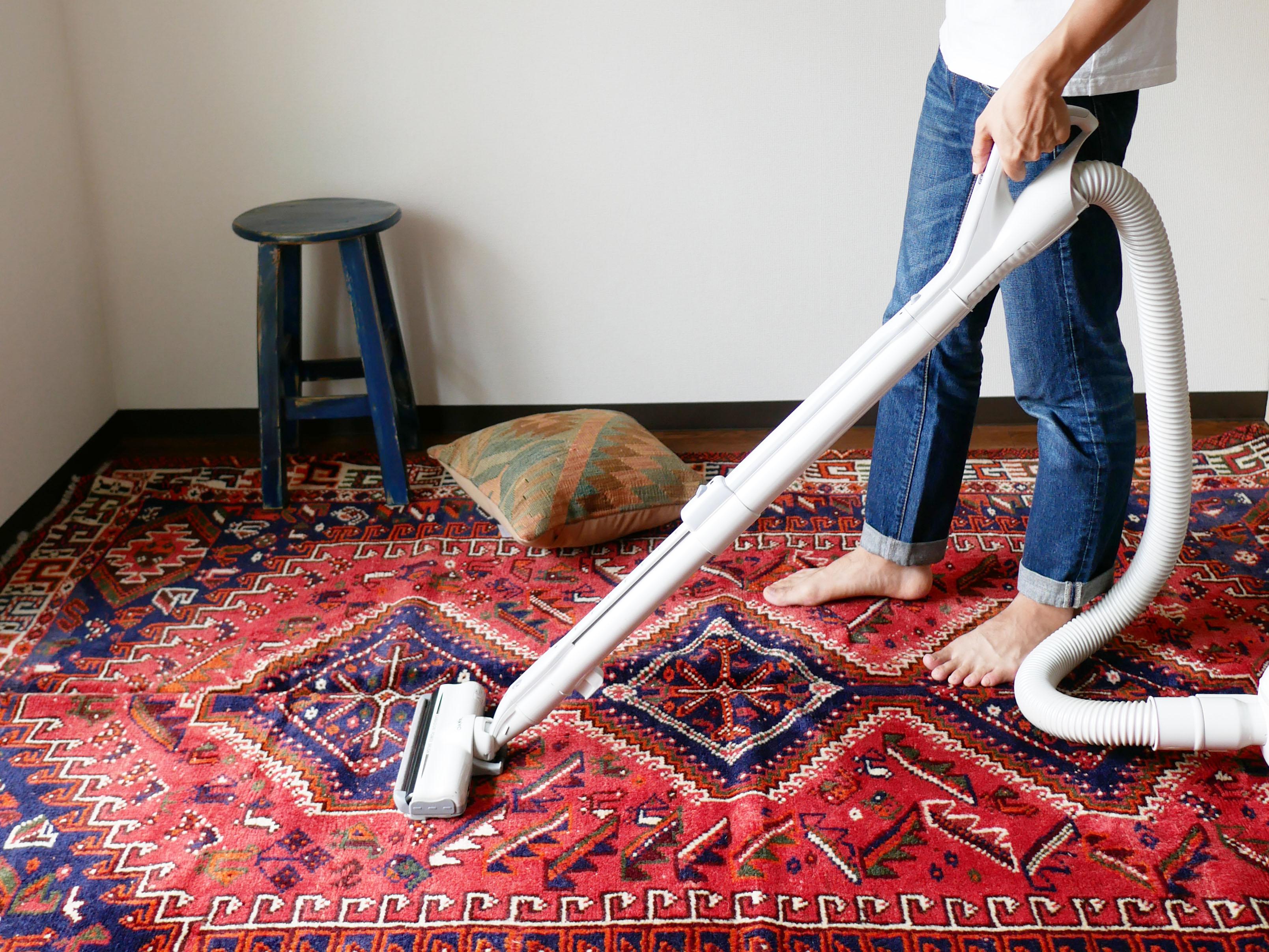 ラグや絨毯で花粉症対策