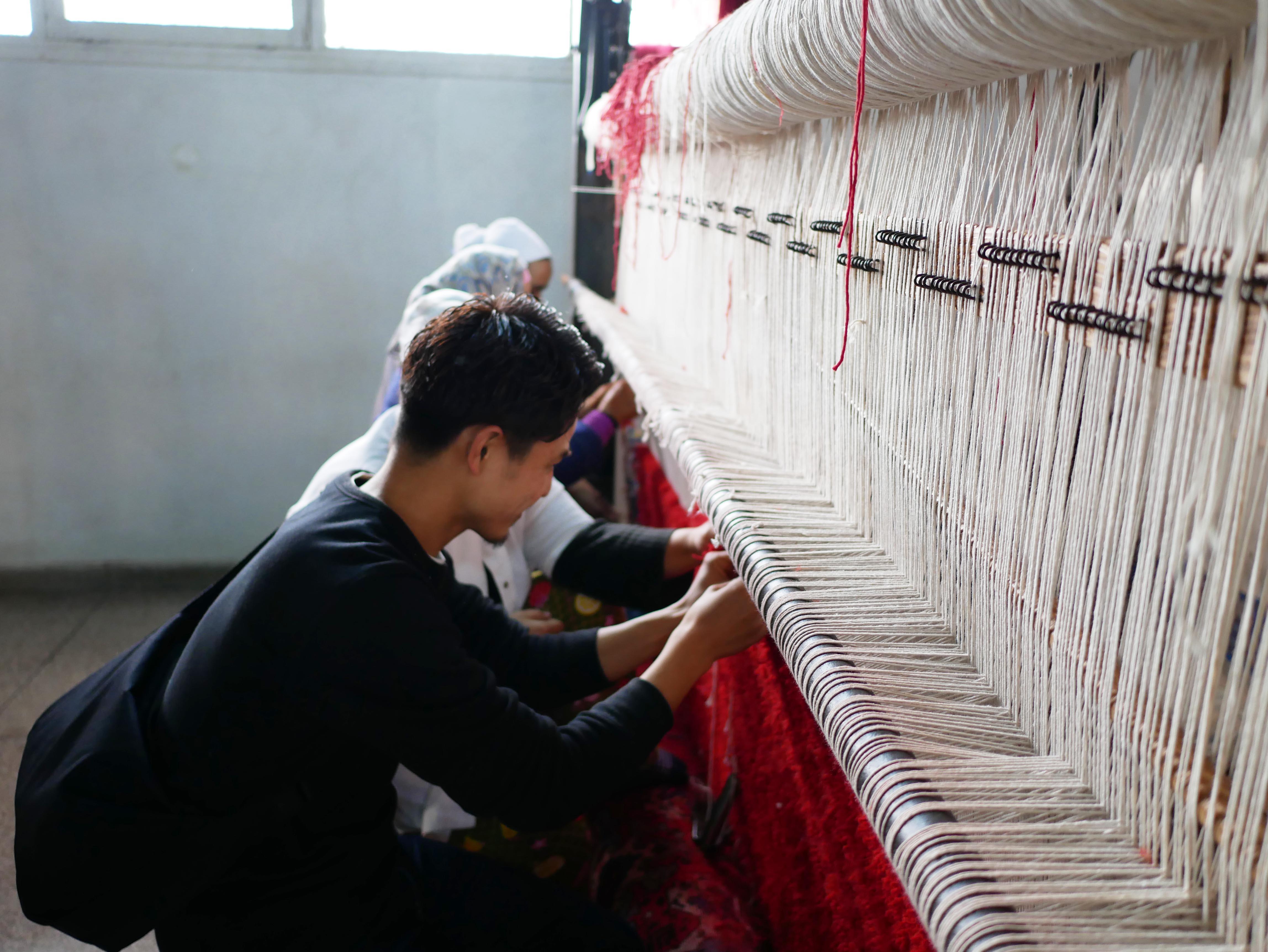 #19 モロッコでモロッコ絨毯を織ってみた!